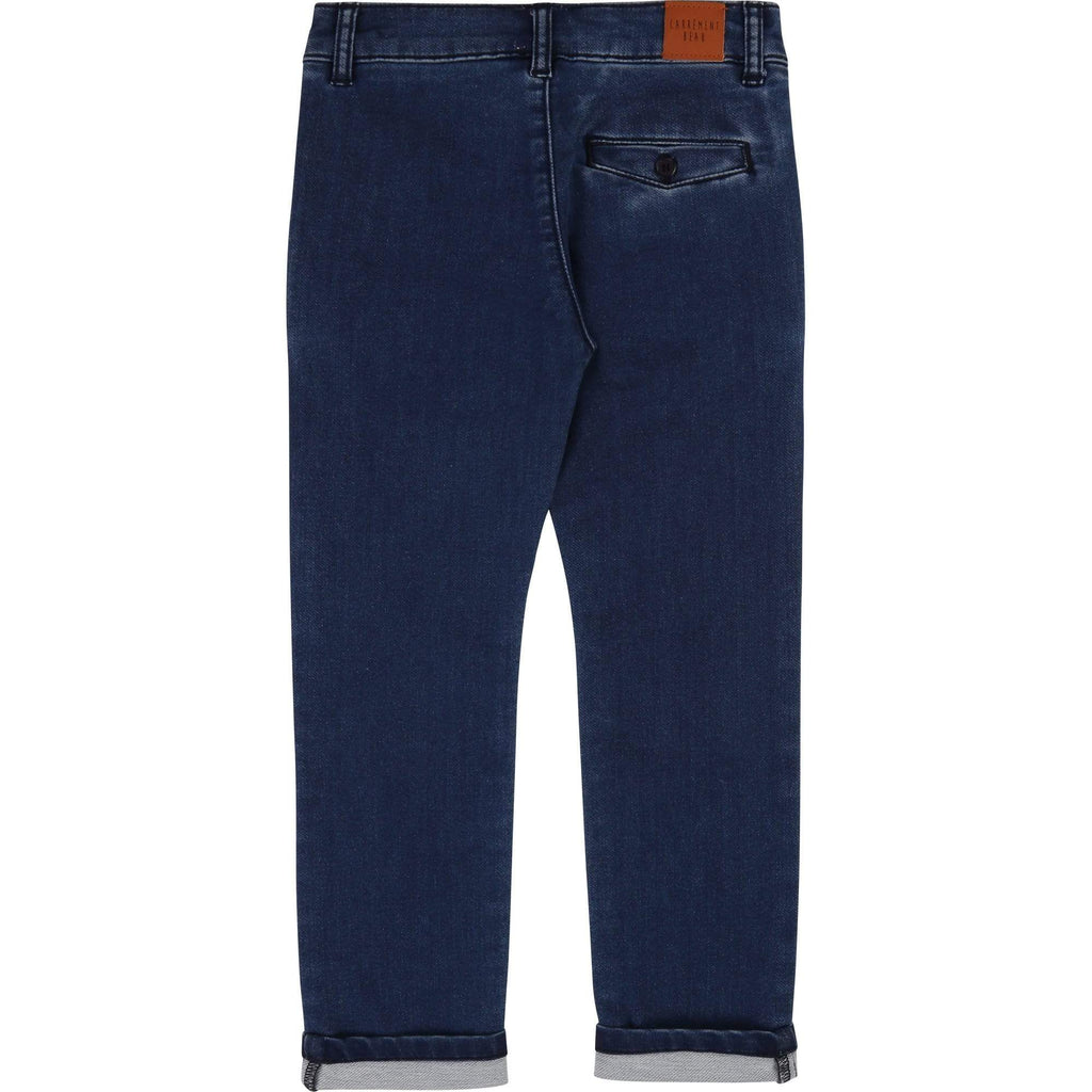 Carrément Beau Pantalons Pantalon chino en denim maille stretch