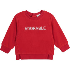 Carrément Beau Pulls Pull rouge adorable Adorable red sweatshirt