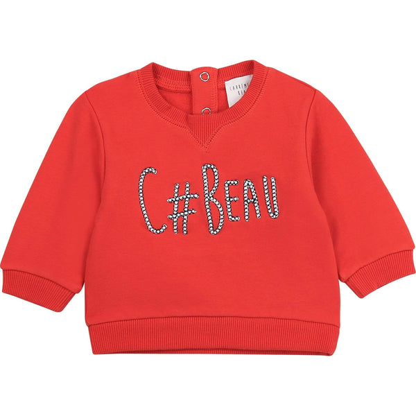 Carrément Beau Pulls Pull rouge Red sweat shirt