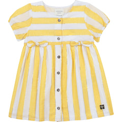Carrément Beau Robes Robe rayé blanche et jaune Yellow and white striped dress