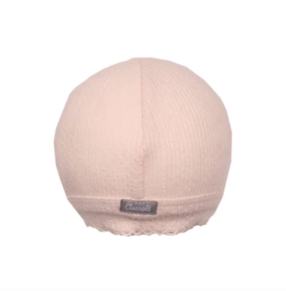 Coccoli Bonnets Bonnet en pointelle rose
