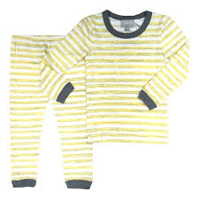 Coccoli Pyjamas 10Y / Jaune Pyjama à rayures jaunes et blanches Yellow and white printed pyjama