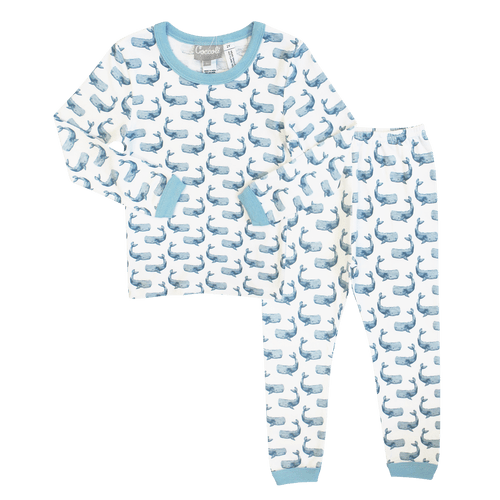 Coccoli Pyjamas 10Y / Rose Pyjama à rayures bleues Blue striped pyjama
