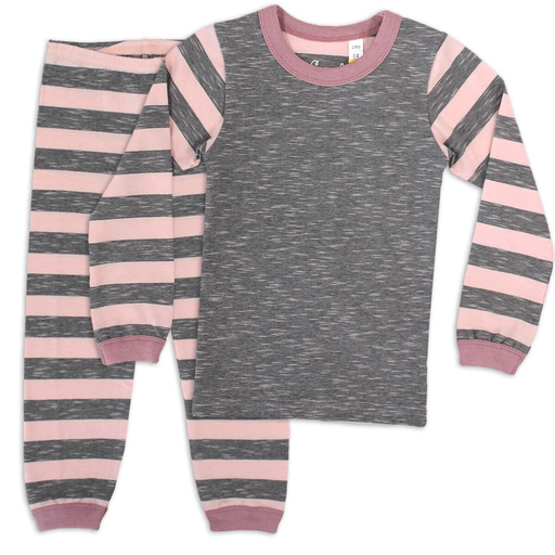 Coccoli Pyjamas 12Y / Rose Pyjama rose et gris Crystal pink and grey pyjama