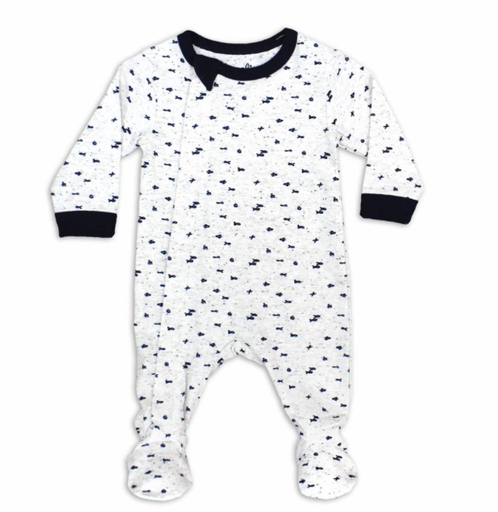 Coccoli Pyjamas 18M / Blanc Pyjama blanc poissons;;en;white pajamas fish
