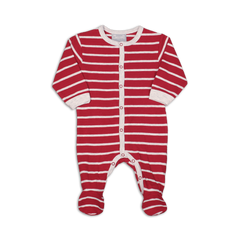 Coccoli Pyjamas 1M / Rouge Pyjama rouge rayé Red striped pyjama