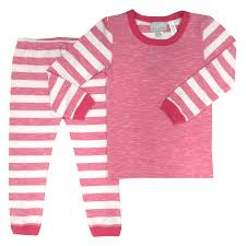 Coccoli Pyjamas 8Y / Blanc Pyjama rose rayé Pink pyjama with stripes