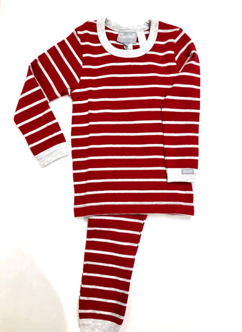 Coccoli Pyjamas Pyjama rayé rouge Red striped pyjama
