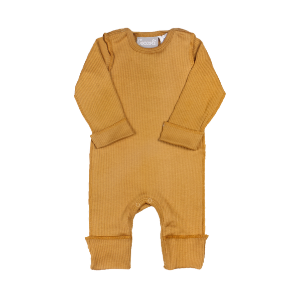 Coccoli Pyjamas Pyjama une pièce moutarde Honey mustard onesie