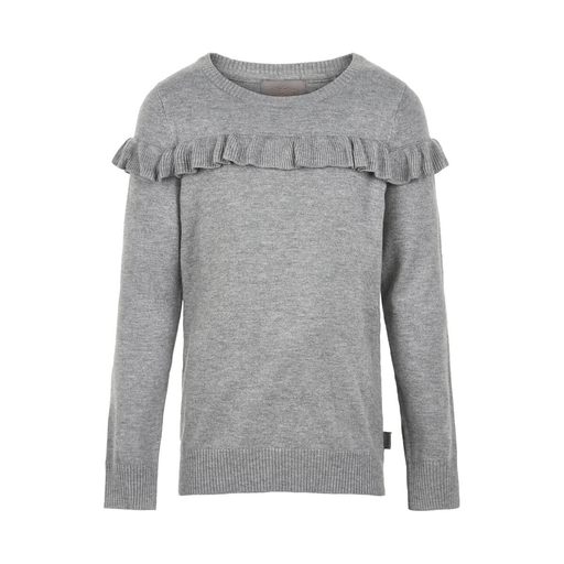 Creamie Cardigans 14Y / Gris pullover manche longue gris long sleeved sweater with ruffles