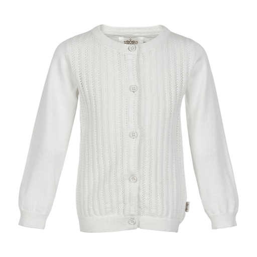 Creamie Cardigans 2Y / Beige Cardigan blanc avec détail tricot White cardigan with knitting details
