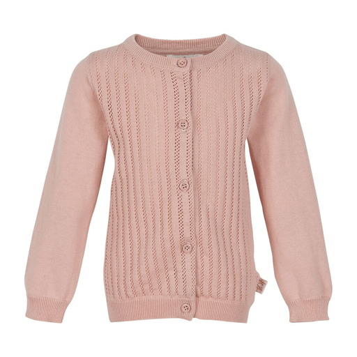 Creamie Cardigans 2Y / Rose Cardigan rose avec détail tricot Pink cardigan with knitting details