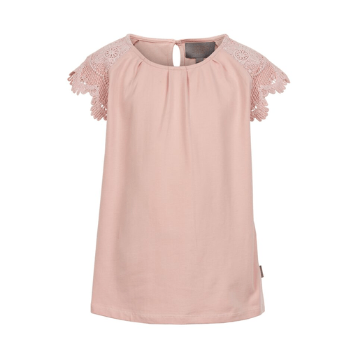Creamie Chandails 14Y / Rose T-shirt rose avec dentelle Pink t-shirt with lace