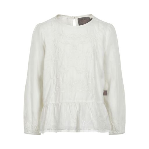 Creamie Hauts 14Y / Beige chemisier blanc manche longue  white long sleeved blouse