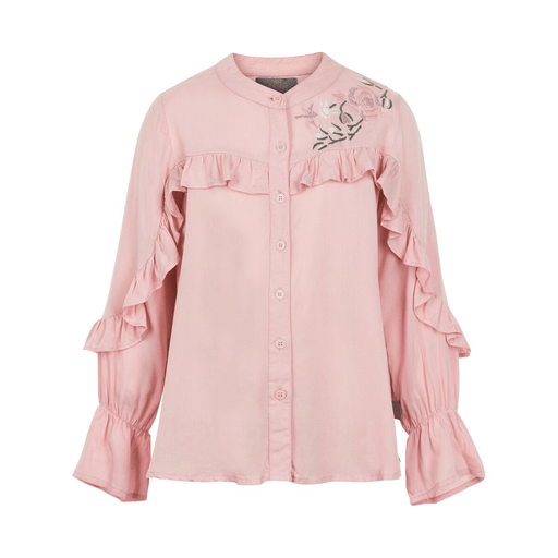 Creamie Hauts 14Y / Rose chemisier rose manche longue pink long sleeved blouse