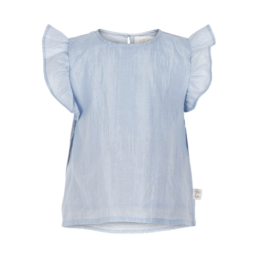 Creamie Hauts 3Y / Bleu Blouse à volants Blouse with layered flounces