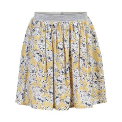 Creamie Jupes Jupe fleurie jaune Yellow flower printed skirt