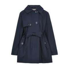 Creamie Manteaux 14Y / Bleu Manteau trench bleu marin Navy blue trench coat