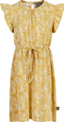 Robe à imprimée jaune Yellow printed dress