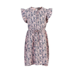 Creamie Robes Robe rose imprimé fleurie Pink flower printed dress