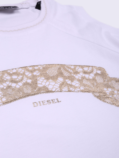 Diesel Chandails 16Y / Blanc tee-shirt manche longue long sleeve tee