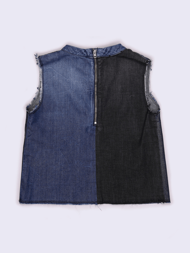 Diesel Hauts 16Y / Bleu blouse denim blue denim blouse