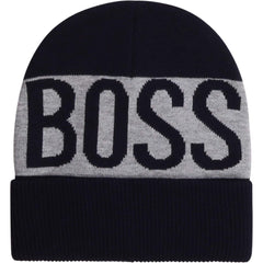 Hugo Boss Accessoires Tuque marine et grise Grey and navy hat