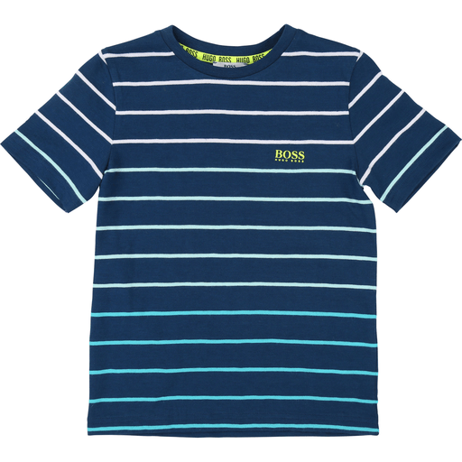 Hugo Boss Chandails 14Y / Bleu T-shirt bleu rayé   Blue stripped shirt