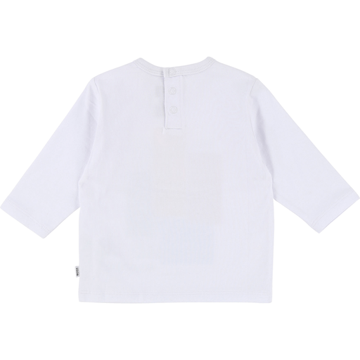 Hugo Boss Chandails 3Y / Blanc Chandail coloré Houses printed T-shirt