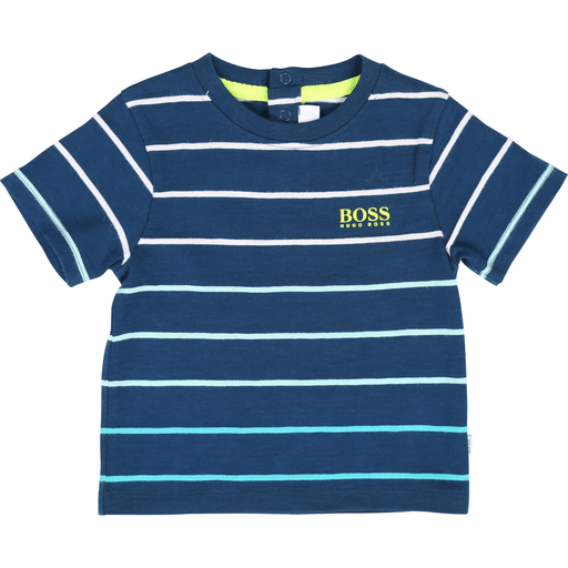Hugo Boss Chandails 3Y / Bleu Chandail bleu rayé Blue striped T-shirt