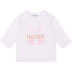 Hugo Boss Chandails Chandail blanc White shirt