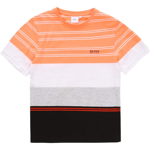 Hugo Boss Chandails Chandail orange et noir Orang and  black T-shirt
