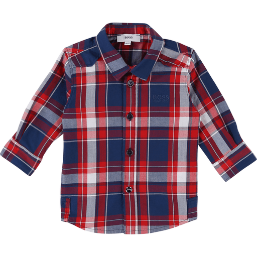 Hugo Boss Chemises 3Y / Bleu Chemise à carreaux bleus et rouges Blue and red checked shirt