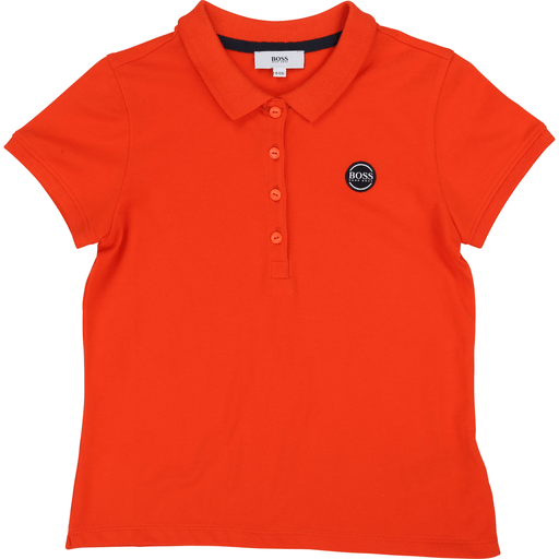 Hugo Boss Hauts 16Y / Orange Polo manches courtes coquelicot   Short sleeved red polo shirt