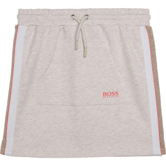 Hugo Boss Jupes Jupe gris pâle en molleton Light grey fleece skirt