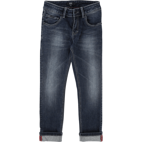 Hugo Boss Pantalons 16Y / Bleu Jeans en denim délavé Denim washed jeans