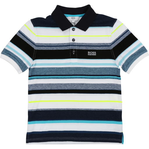 Hugo Boss Polos 16Y / Bleu Polo à manches courtes rayé   Stripped short sleeve polo