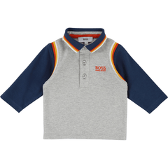 Hugo Boss Polos 3Y / Gris Polo gris et marine Grey and blue polo