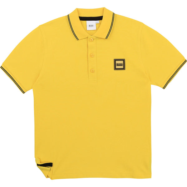 Hugo Boss Polos Polo jaune Boss Yellow Boss polo