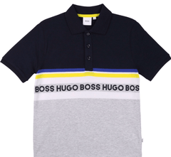 Hugo Boss Polos Polo marine et blanc Navy blue and white polo