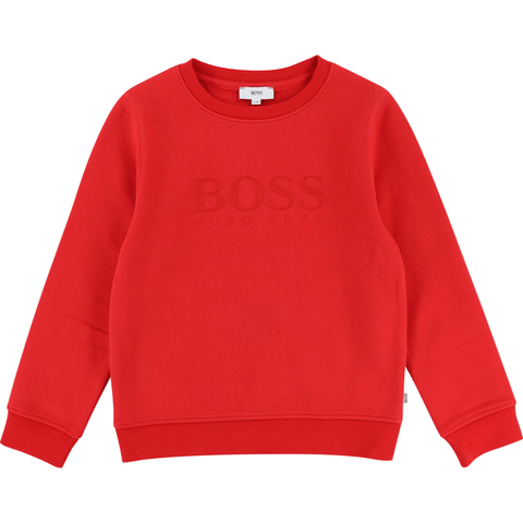 Hugo Boss Pulls 16Y / Rouge Sweat rouge éclatant Pop red sweat