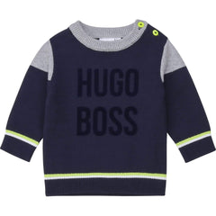 Hugo Boss Pulls Pull marine Navy sweater