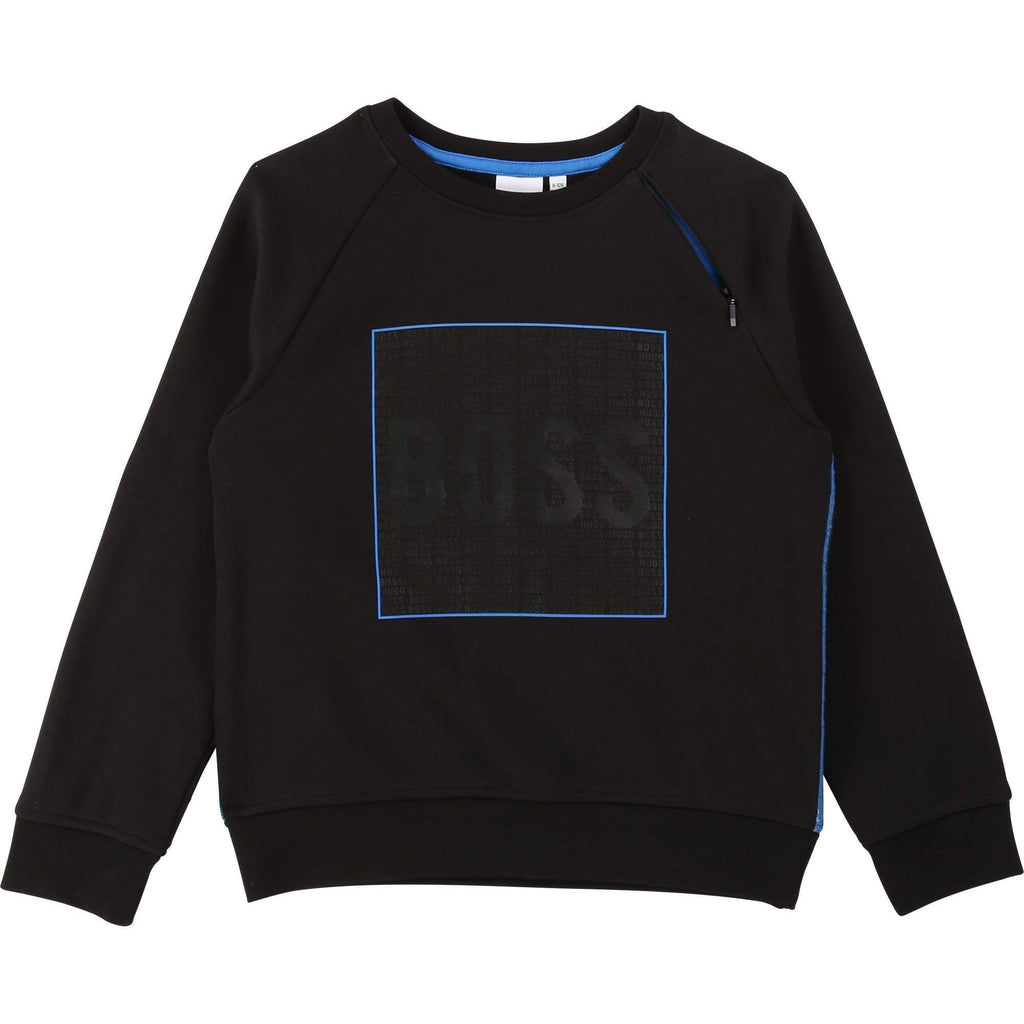 Hugo Boss Pulls Sweat-shirt en molleton gratté coton/polyester
