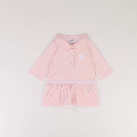 Hugo Boss Robes 3M / Rose Robe polo en piqué coton/élasthanne