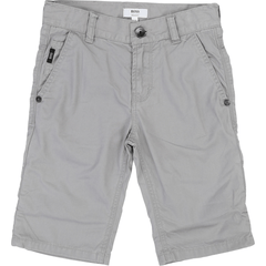 Hugo Boss Shorts 16Y / Gris Bermuda gris à 5 pooches 5 pocket bermudas