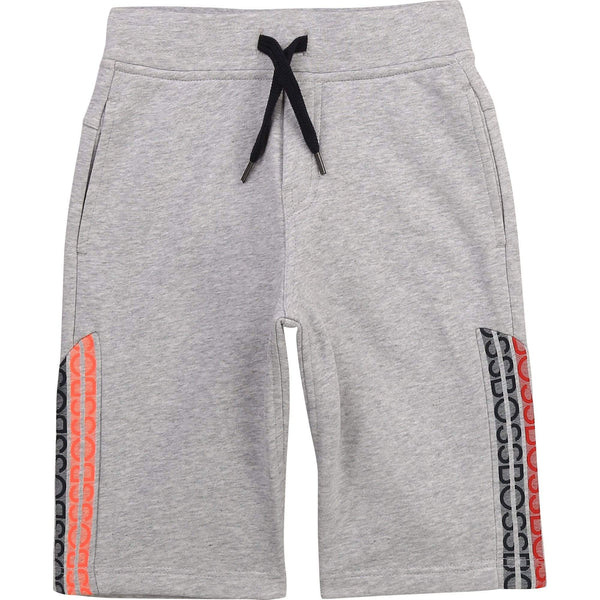 Hugo Boss Shorts Bermuda gris chiné en molleton Heather grey fleece bermuda