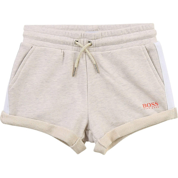 Hugo Boss Shorts Short en molleton gris clair Light grey fleece shorts