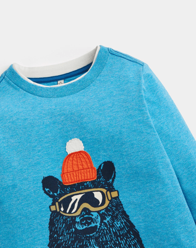 Joules Chandails 10Y / Bleu Chandail bleu ours Blue bear T-shirt