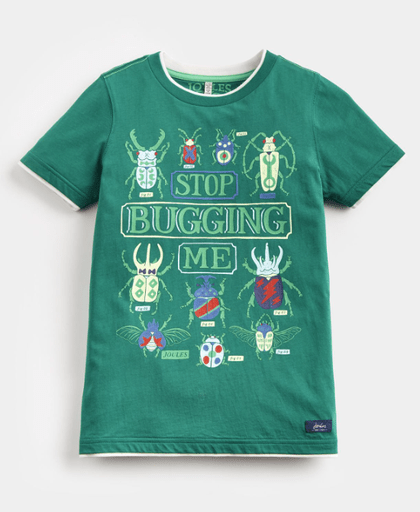Joules Chandails 12Y / Vert Tee-shirt vert Green tee-shirt with animation
