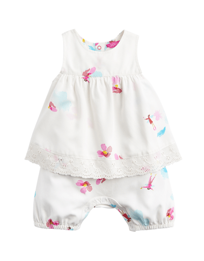 Joules Combinaisons 2Y / Blanc Barboteuse blanche fées White rompers with fairy